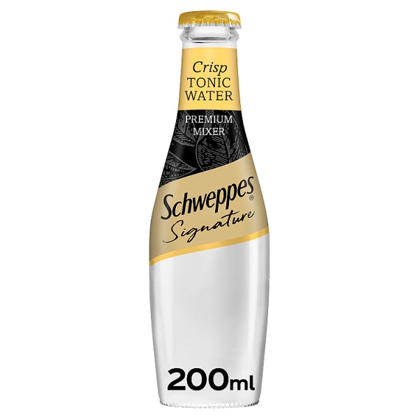 Schweppes Signature Collection Crisp Tonic Water 24 x 200ml, Case of 24
