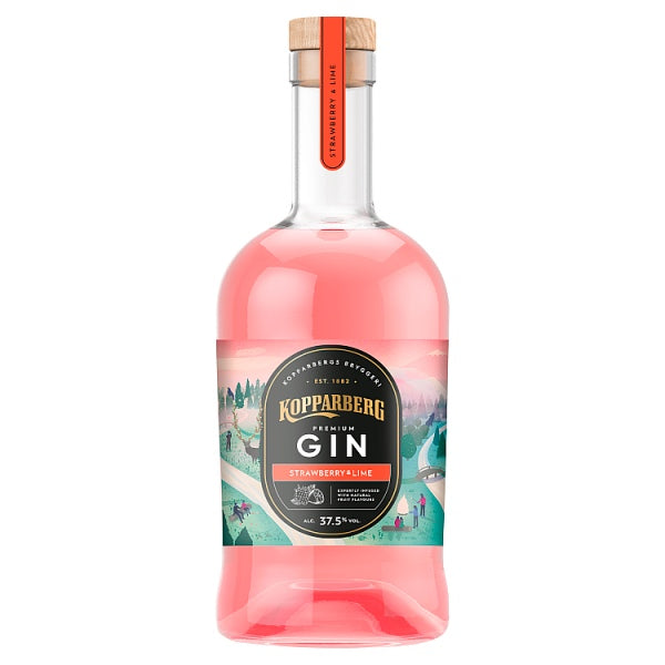 Kopparberg Gin Strawberry & Lime 70cl, Case of 6