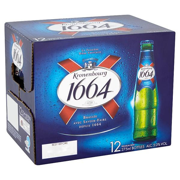 Kronenbourg 1664 Lager Beer 12 x 275ml Bottles