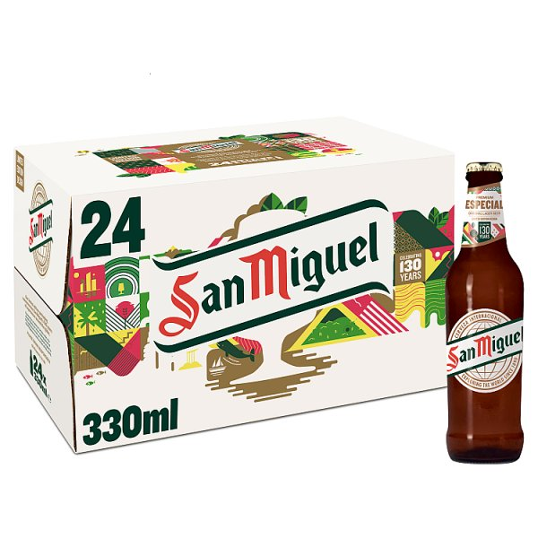 San Miguel Premium Lager Beer 24 x 330ml, Case of 24