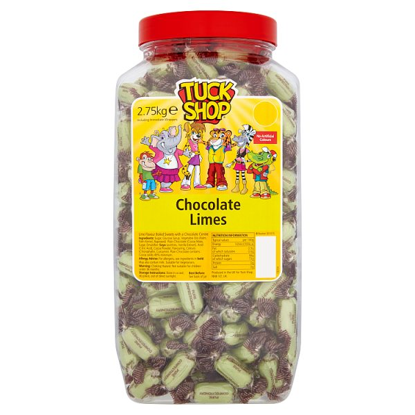 Tuck Shop Chocolate Limes 2.75kg, Case of 6