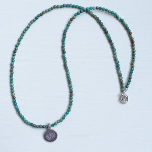 Lotus Flower Turquoise Necklace