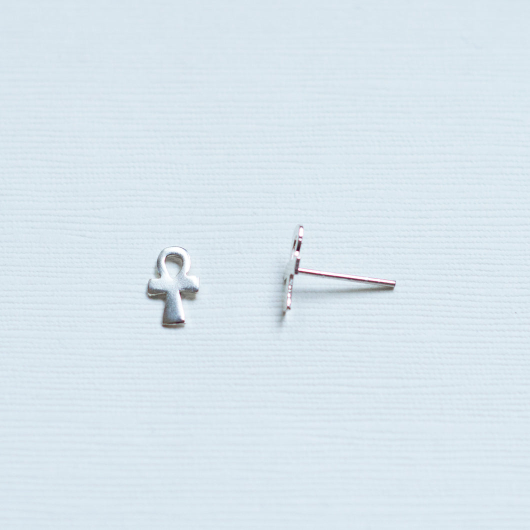 Ankh Stud Earrings