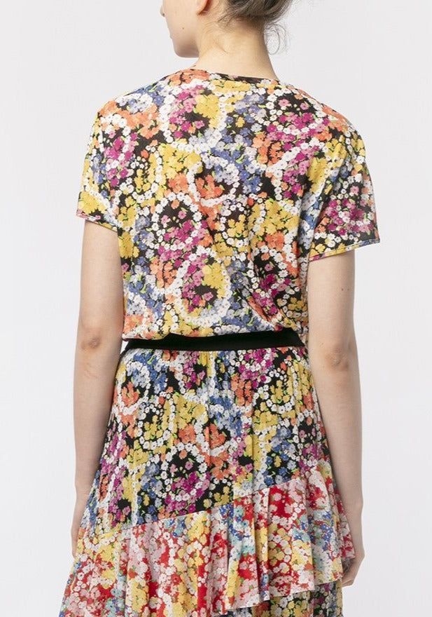 FLOWER POWER RUFFLE BLOUSE