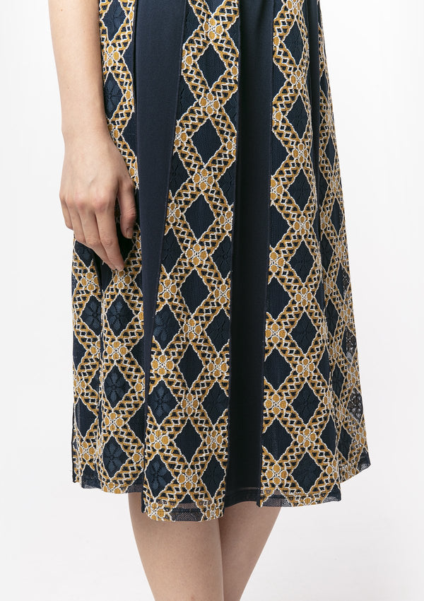 DIAMOND LACE PATCHWORK SKIRT
