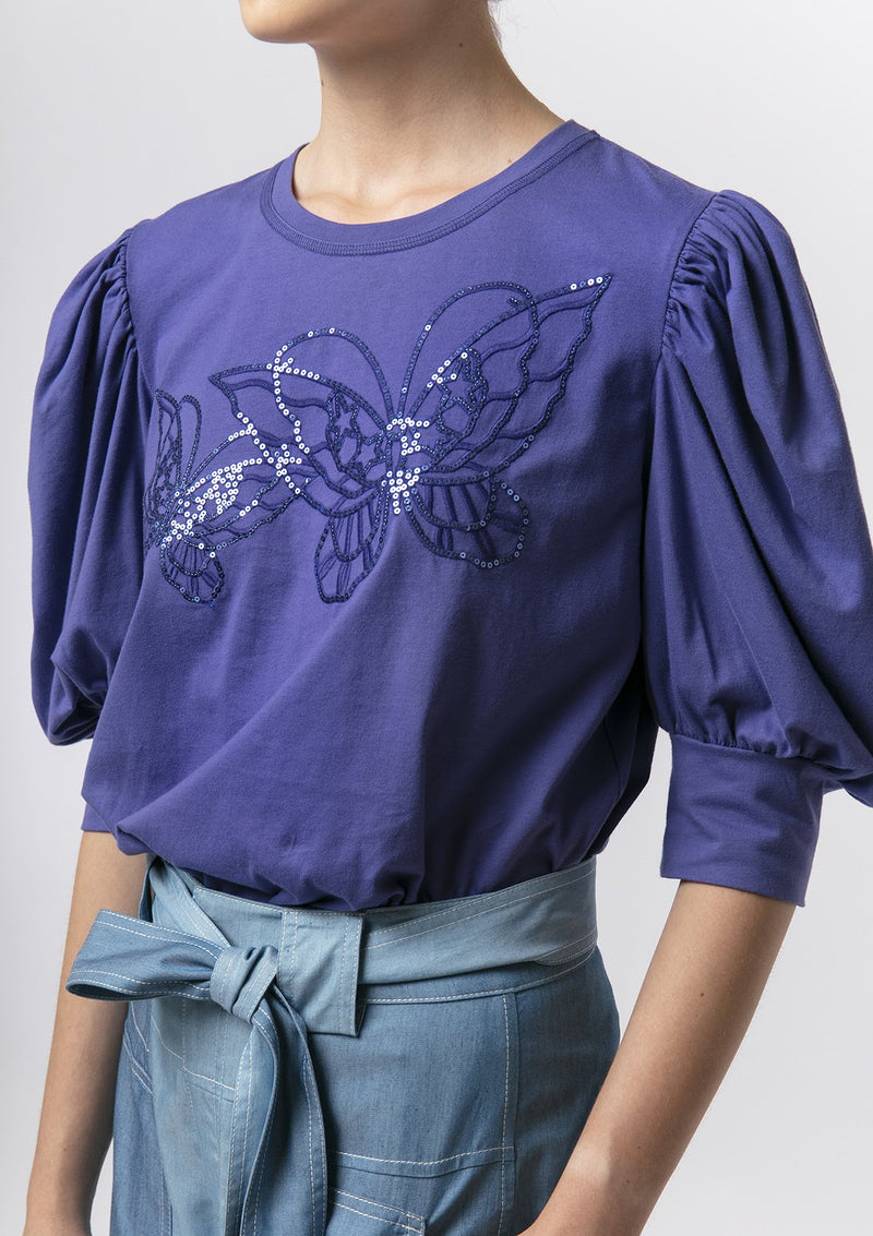 BUTTERFLY LACE SEQUIN TOP