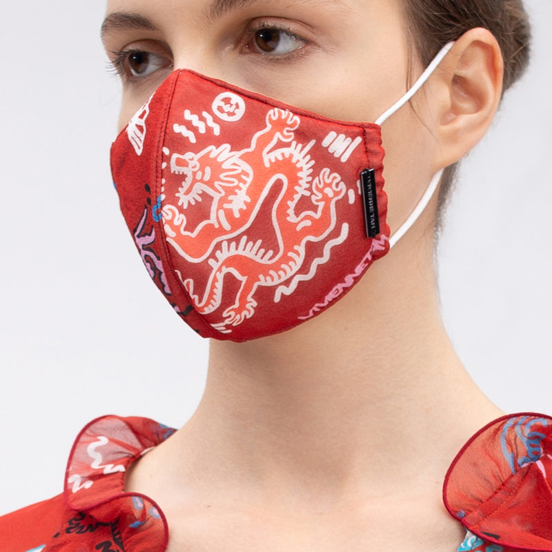 GRAFFITI DRAGON REUSABLE PROTECTIVE FACE MASKS