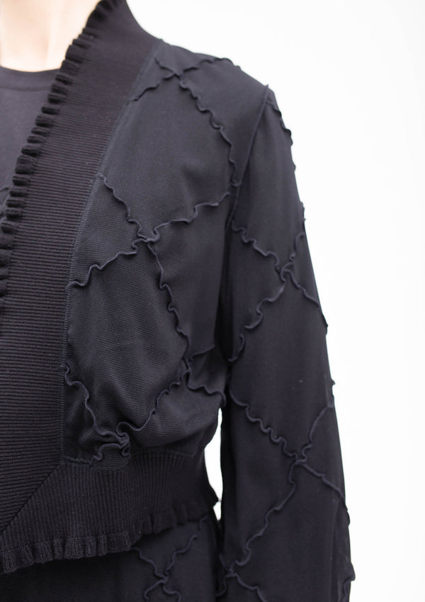 BLACK DIAMOND CUT PATCHWORK JACKET