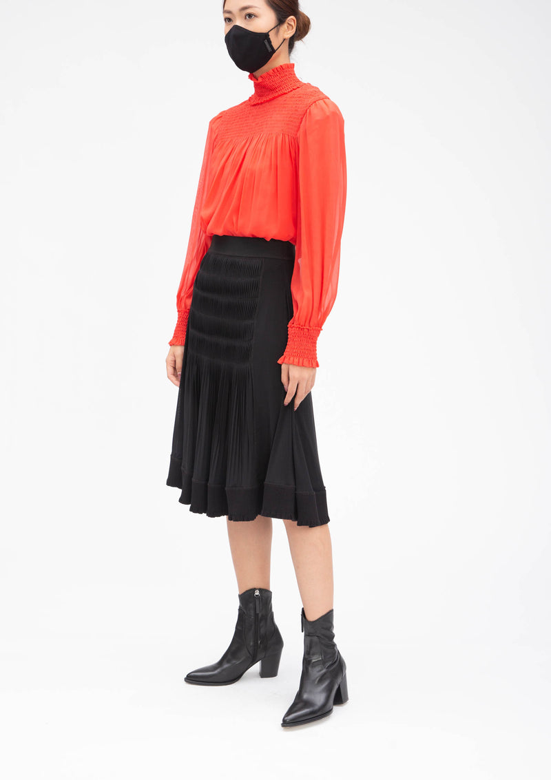 BLACK SOLID STRETCH NETTING SKIRT