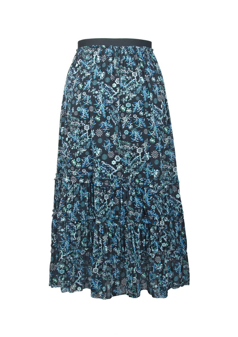 PINE AND PRUNUS PLEATED NETTING SKIRT