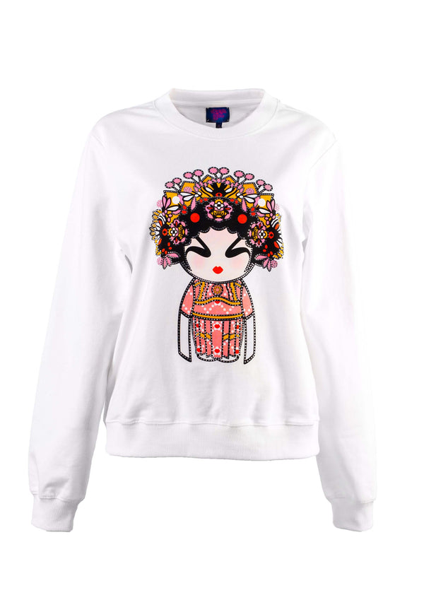 PIGMENT OPERA GIRL DOLL WITH CRYSTAL SWEATSHIRT