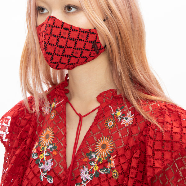 SCHOLARS ROCK EMBROIDERED LACE REUSABLE PROTECTIVE FACE MASKS