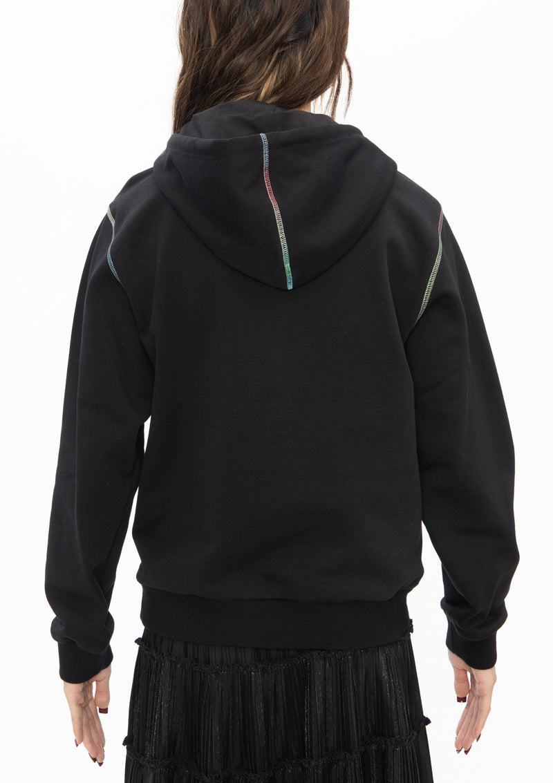 RAINBOW DRAGON COTTON SWEATSHIRT HOODIE