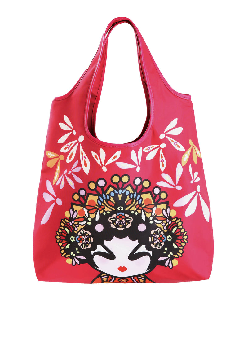 OPERA GIRL DOLLY WITH FLORAL PRINTED HOBO BAG