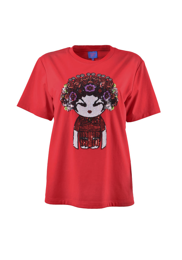 OPERA GIRL EMB & SEQUINS T-SHIRT
