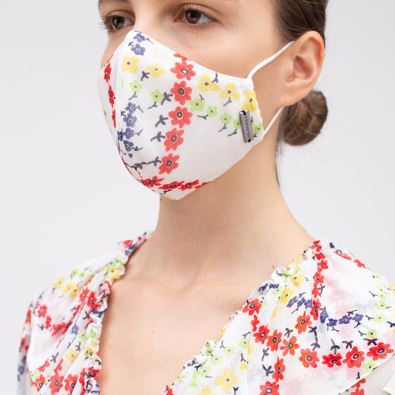 PLAID FLOWER REUSABLE PROTECTIVE FACE MASK