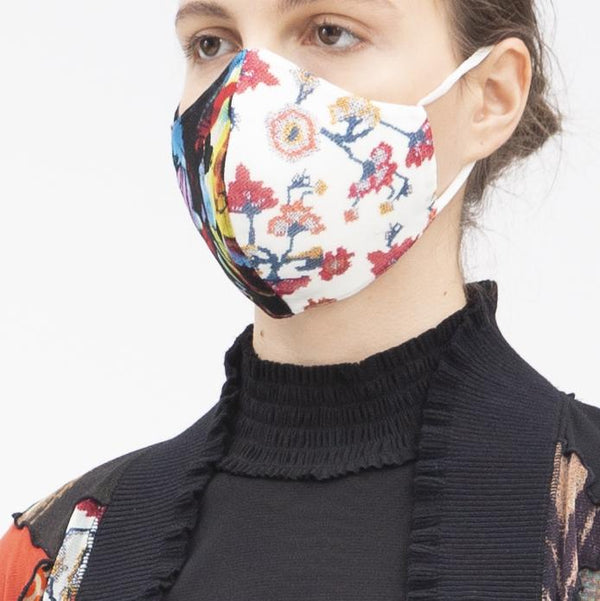 PATCHWORK FLORAL SUSTAINABLE PROJECT PROTECTIVE FACE MASK