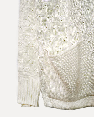 Bettina White Knit Cardigan | M