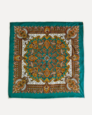 Emerald Paisley Scarf