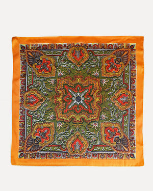 Orange Paisley Scarf
