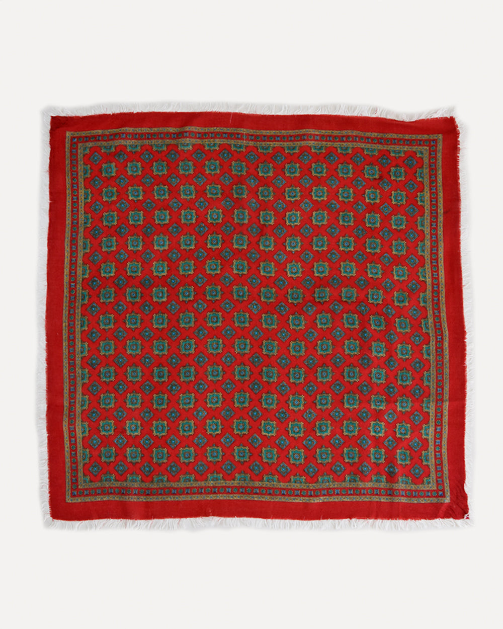 Red Geometric Paisley Scarf