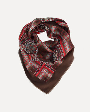 Paisley Grid Scarf