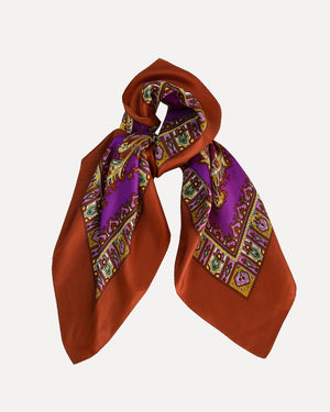 Purple Paisley Scarf