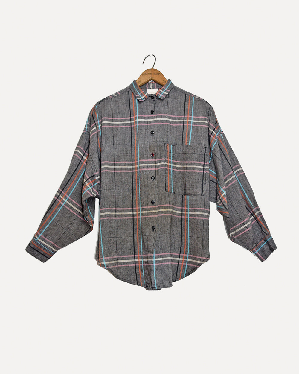 Oversized Grey Check Shirt | 10-12