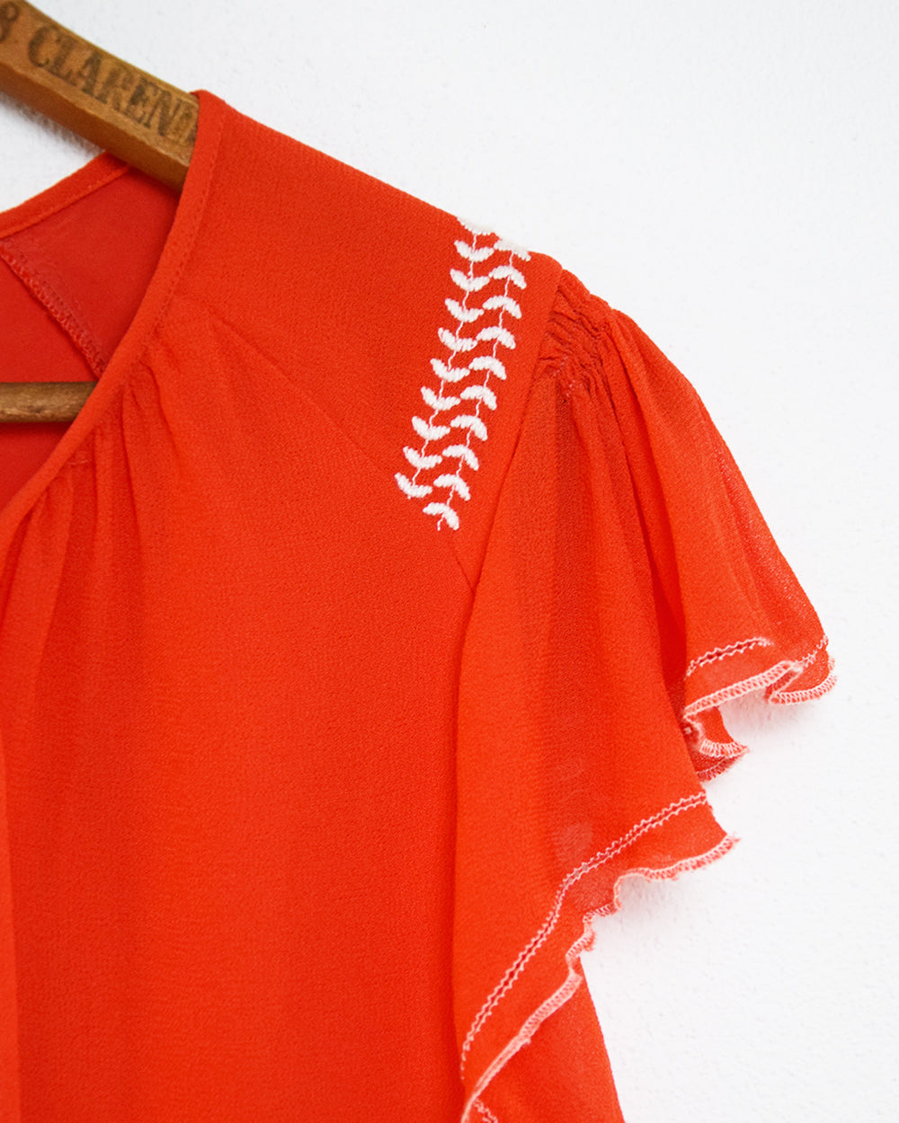 Red Frill Blouse | 10