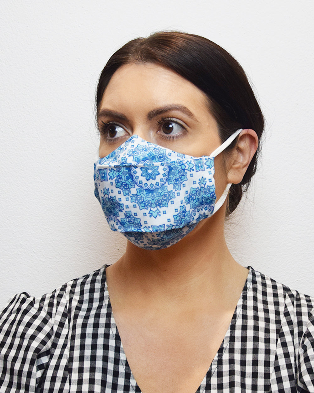 Moroccan Blue Face Mask