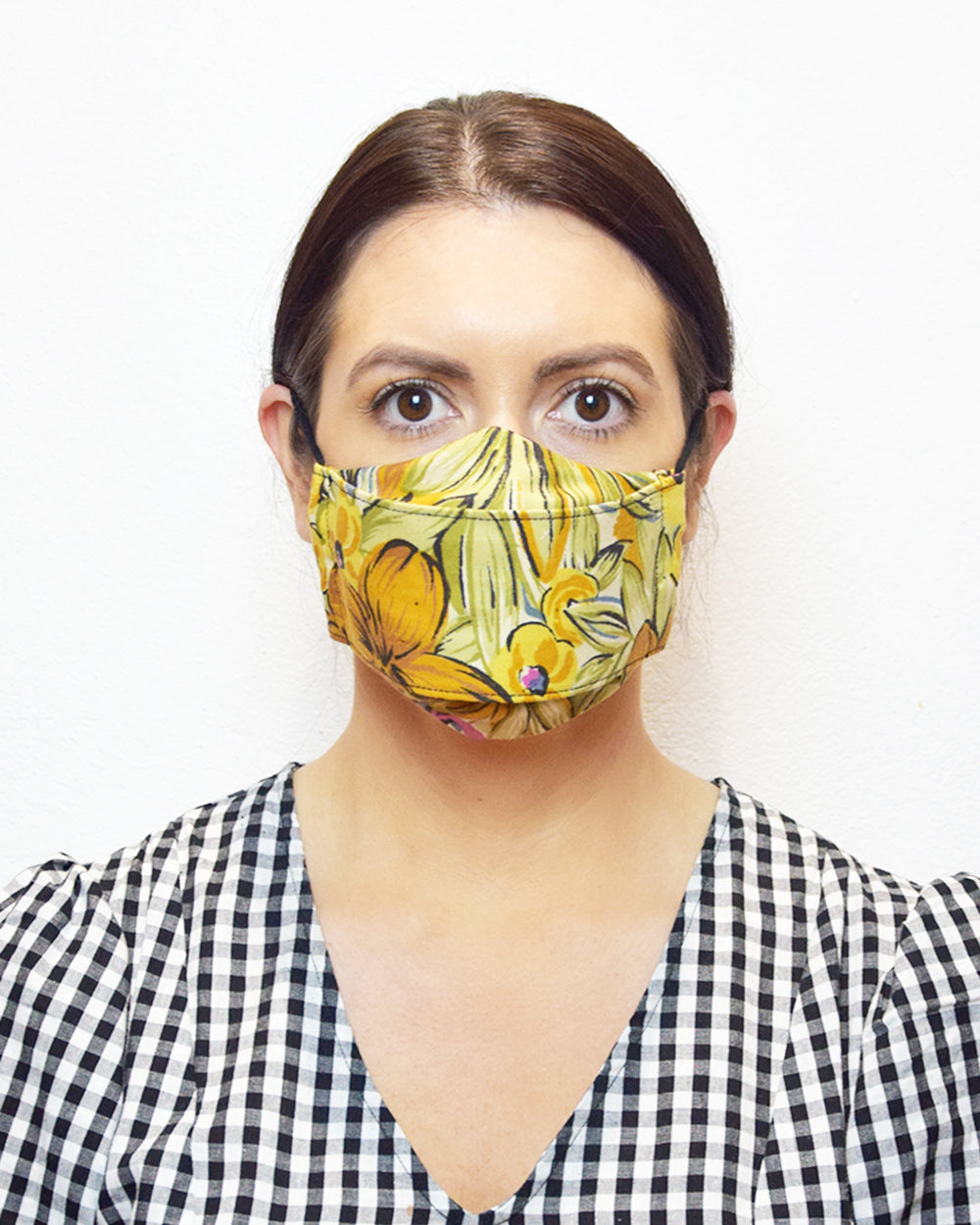 Retro Floral Face Mask