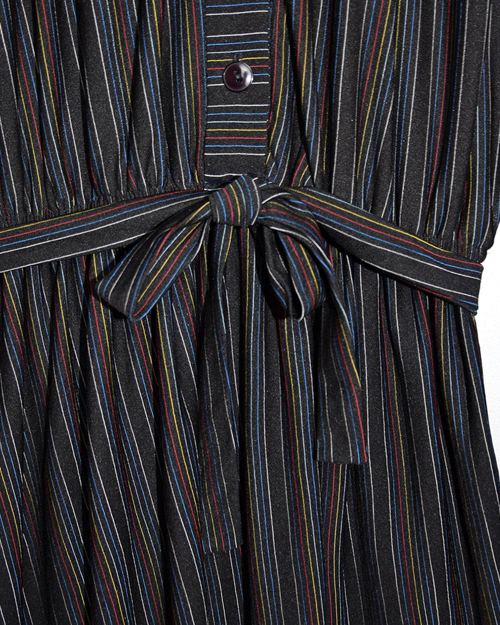 Vintage Rainbow Stripe Dress | 10-12