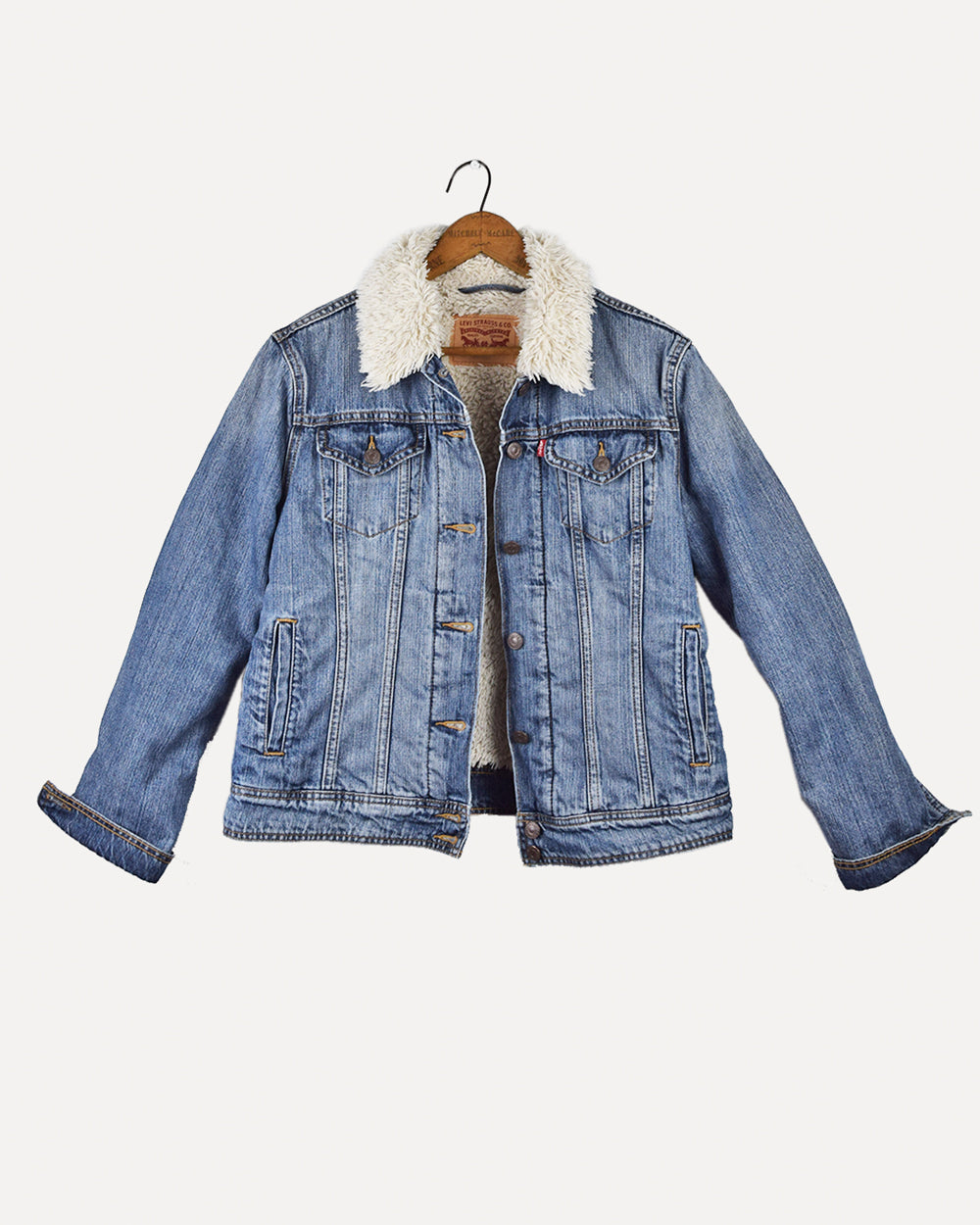 Levi Shearling Denim Jacket | L
