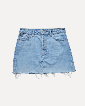 Raw Denim Mini Skirt | 10