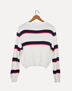 Stripe Cropped Jumper | 8-12