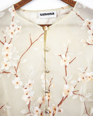 Simona Sheer Floral Tunic | 8-12