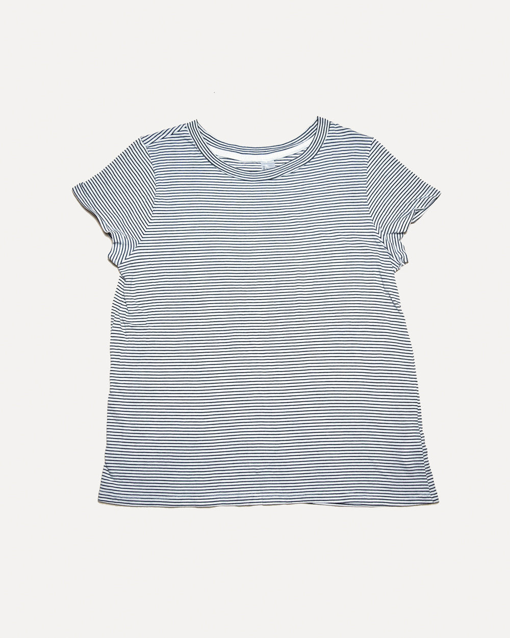 White Stripe Tee | L
