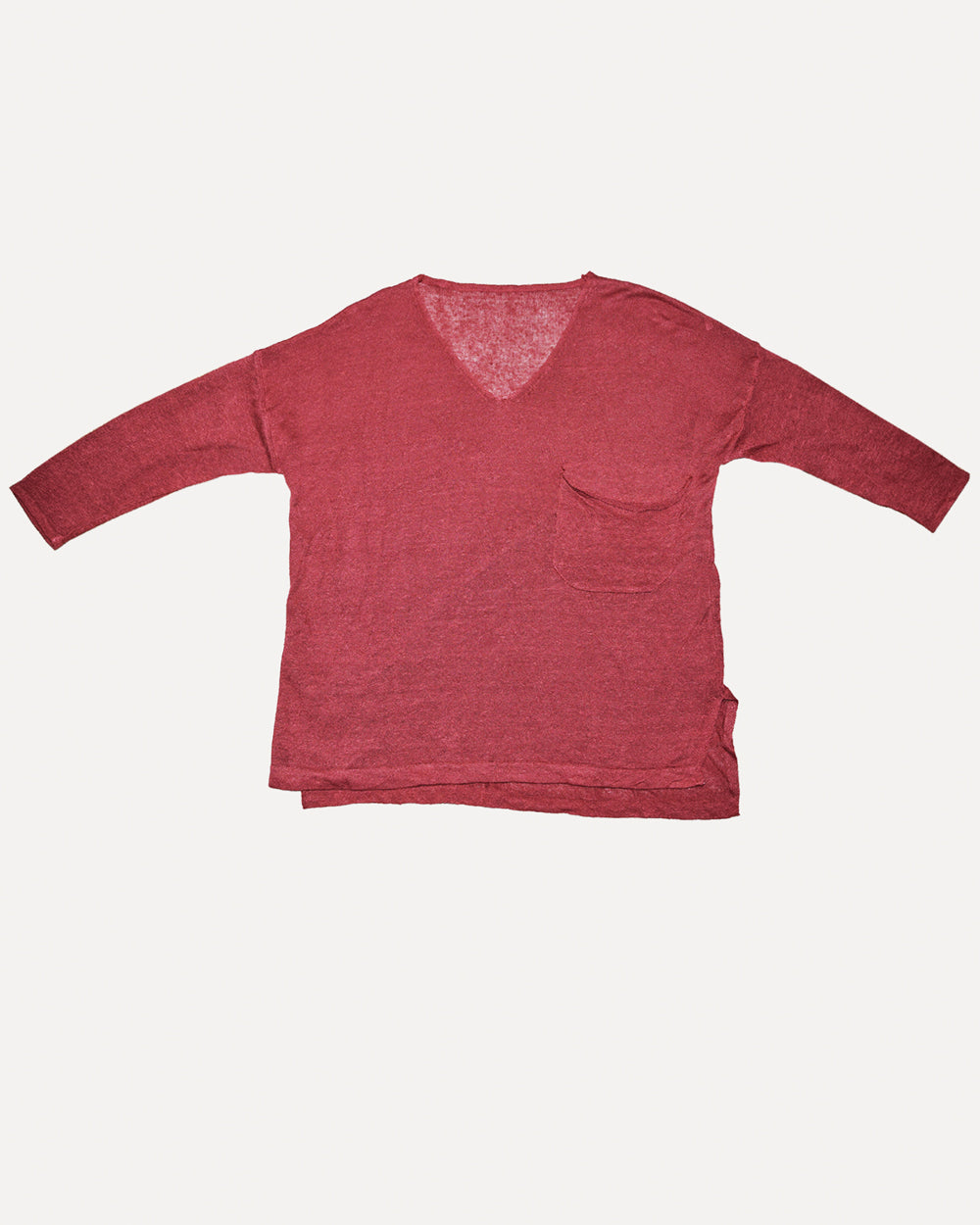 Linen Rust Red Knit | S