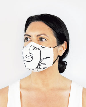 'Faces' Linen Cotton Mask