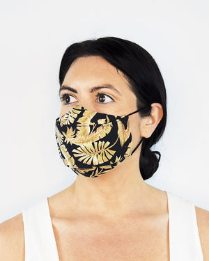 Tropical Palm Cotton Mask