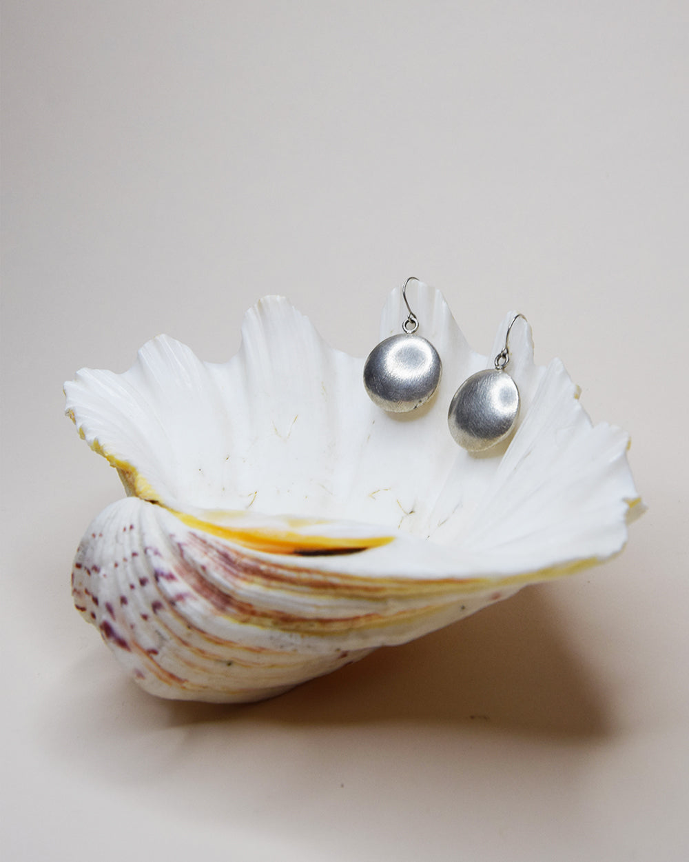 Vintage Round Silver Earrings