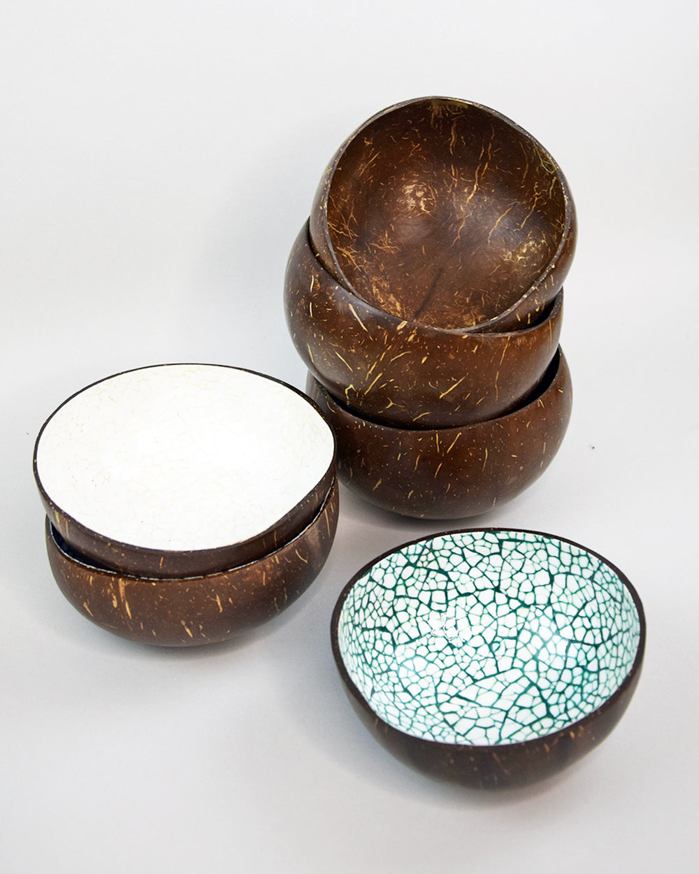 Coconut Bowl Mosaic Green