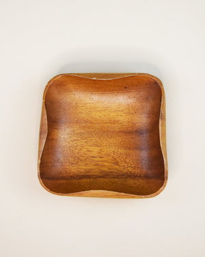 Wooden Monkeypod Bowl Square