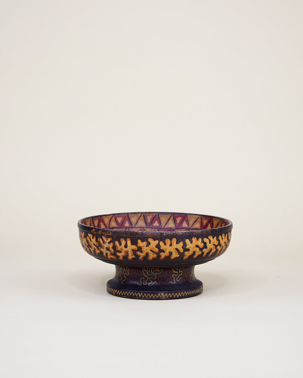 Handpainted Tribal Wooden Bowl
