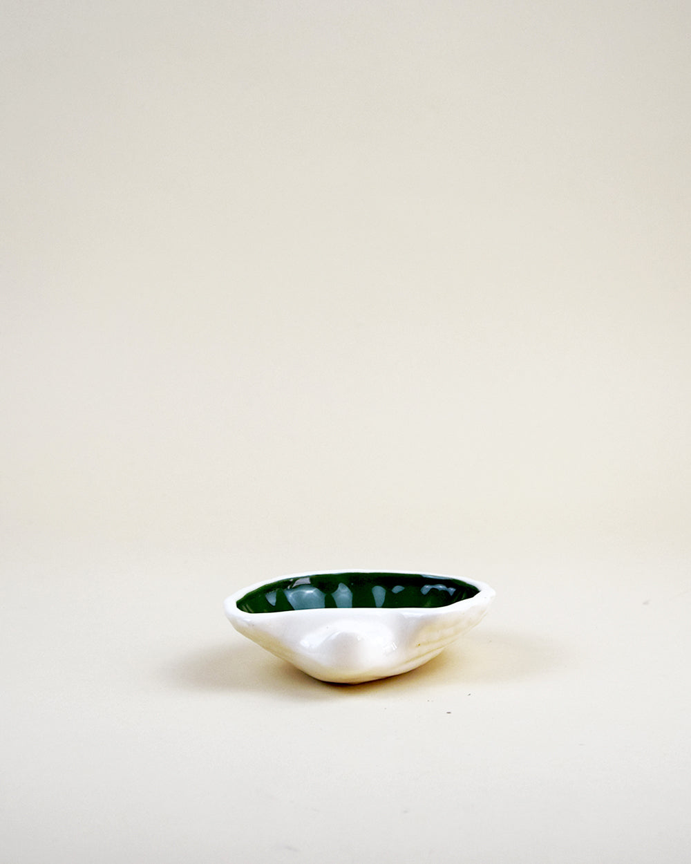 Porcelain Shell Dish Green