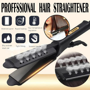 CERAMIC TOURMALINE IONIC FLAT IRON HAIR STRAIGHTENER - Etrendpro