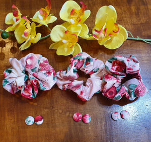 Scrunchie & Earring Gift Set In The Bloom