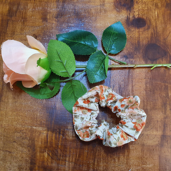 Individual Scrunchie Floral Orange