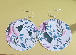 Faux Leather Earrings Large