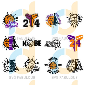 12 kobe bryant Bundle, SVG, DXF, EPS, PNG Instant Download